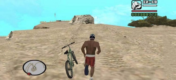 Playing GTA San Andreas