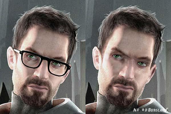 Gordon freeman without glasses nerdburglars gaming gordon freeman without glasses voltagebd Images