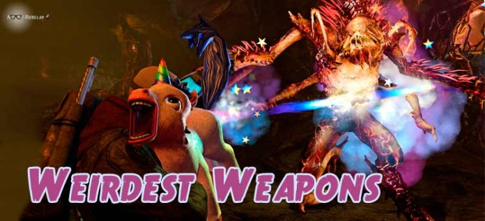 weirdest weapons in video games