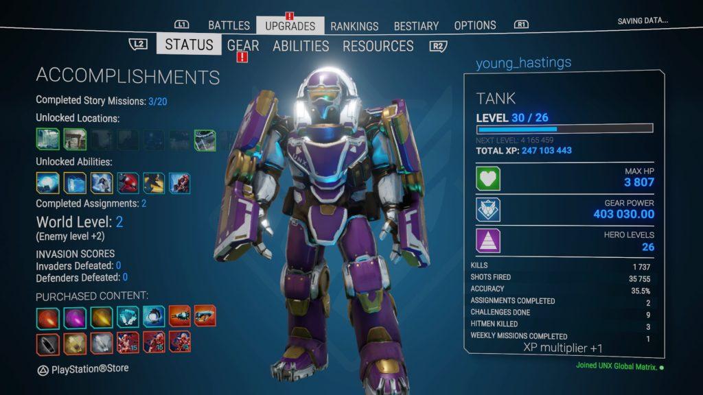 Hero Level Tank