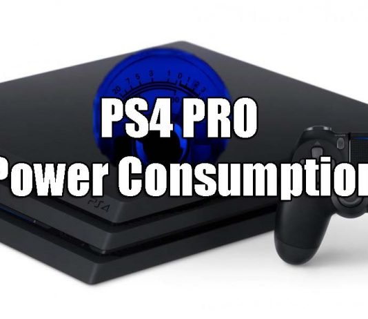 power consumption of the PS4 Pro