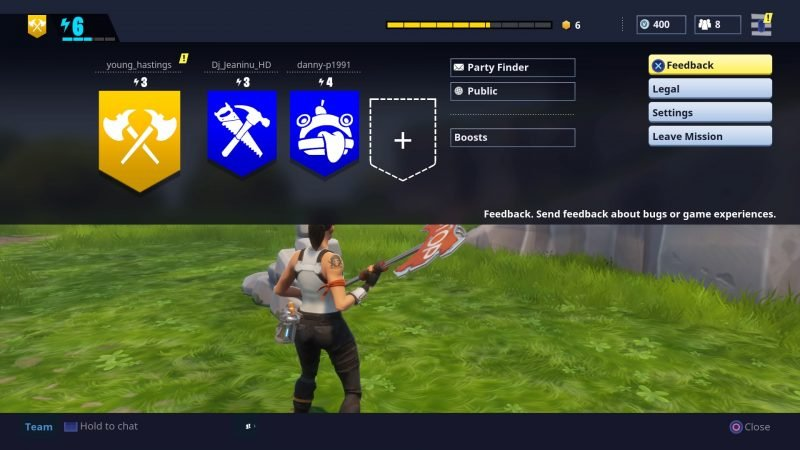 mute players - fortnite voice chat geht nicht pc