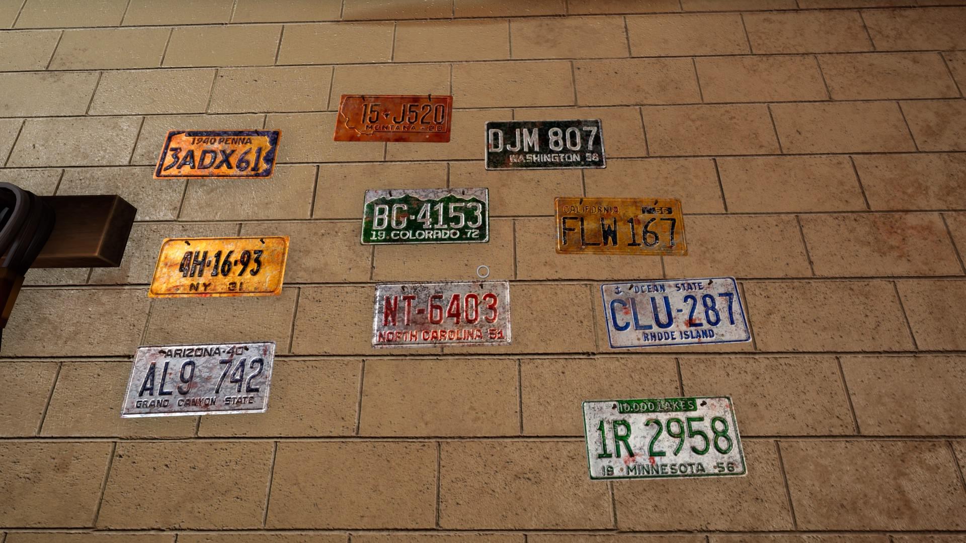 garage license plates