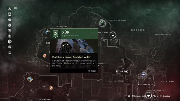 xur map location