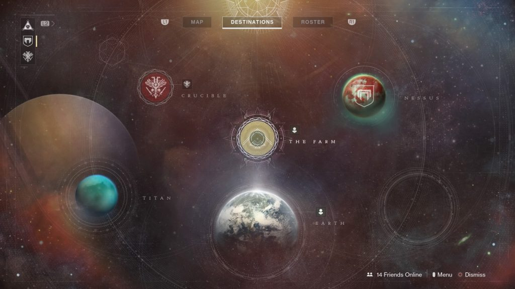 Destiny 2 Planet Map