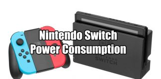 Power Consumption of The Nintendo Switch