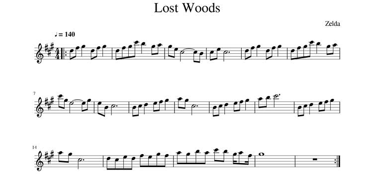Lost Woods Sheet Music