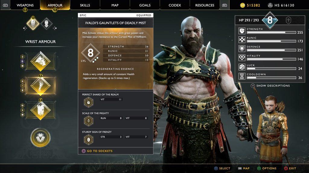 god of war best gauntlets