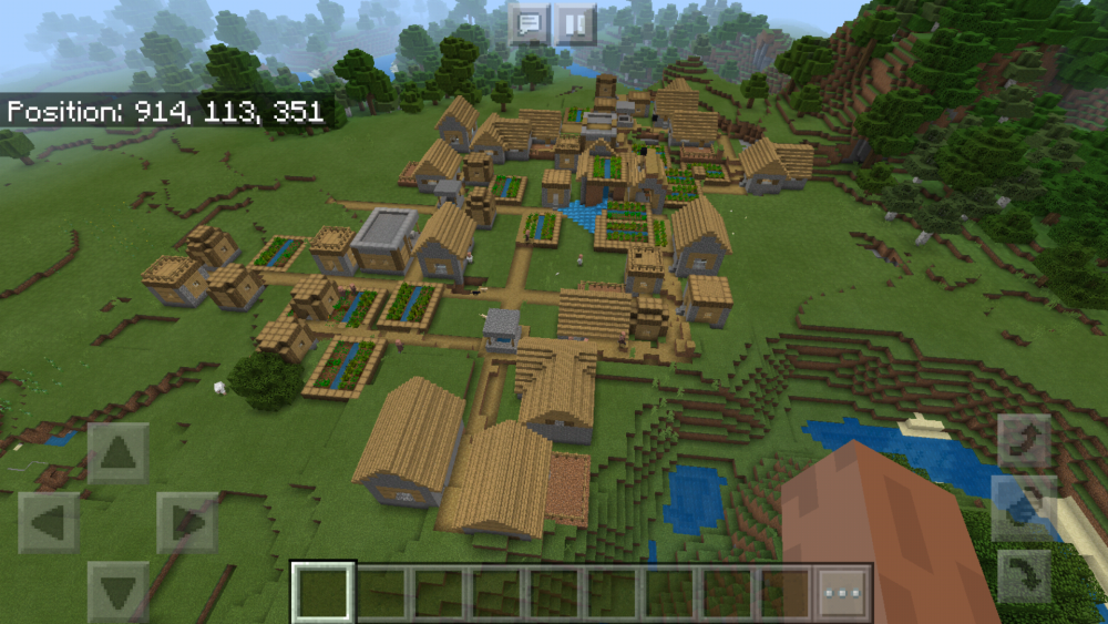 Large Minecraft city seed