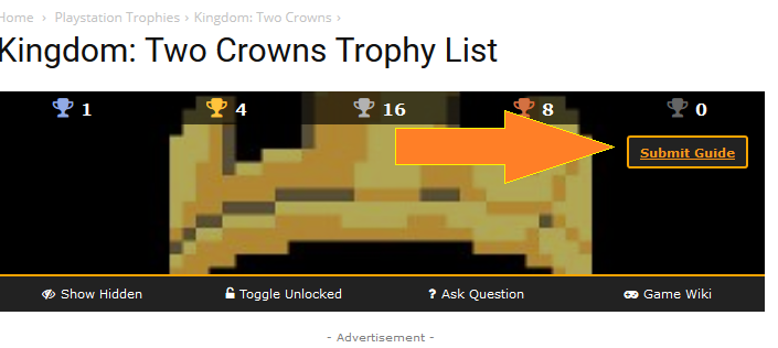 How To Submit Trophy Guide