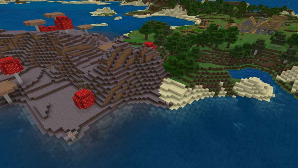 mushroom village and stronghold seed