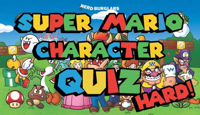 Hard super mario character quiz