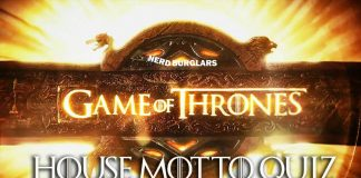 Game of Thrones Motto Quiz