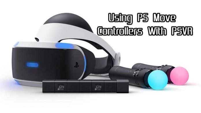 ps move controllers with the psvr