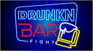 drunkn bar fight review