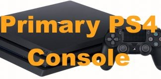 How To Set A Primary PS4