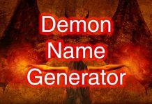 Demon Name Generator