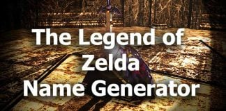 The Legend of Zelda Name Generator