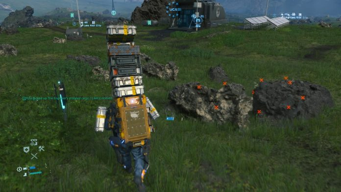Death Stranding - Stacking boxes on your back