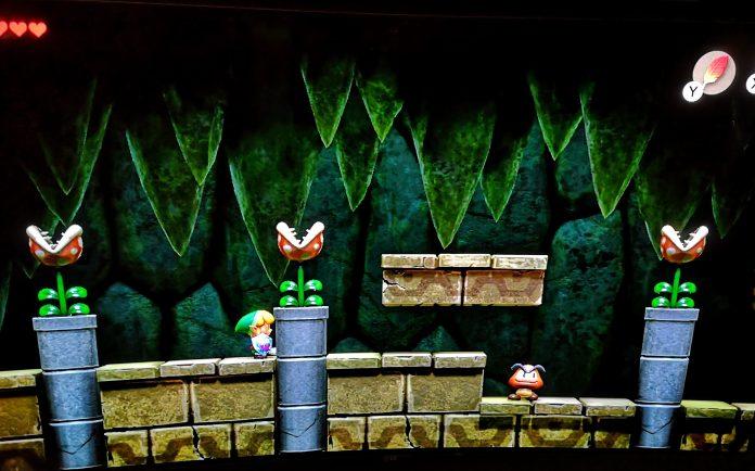 Mario pipes and enemies in Links Awakening