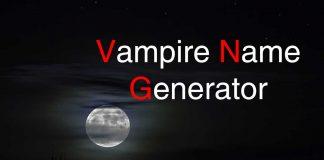 Vampire Name Generator