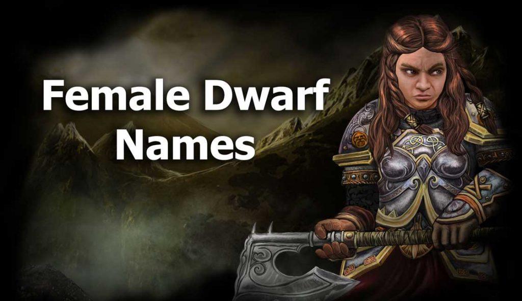 female dwarf names