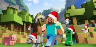 Building a Christmas Village in Minecraft