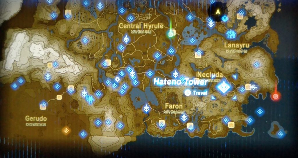 Hateno Tower location