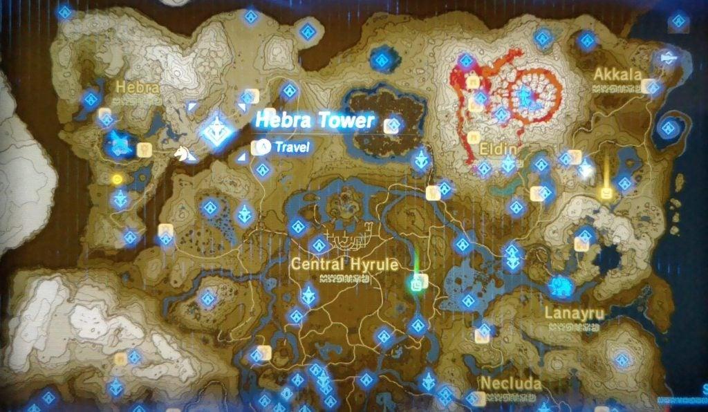 Where to find Hebra Sheikah Tower