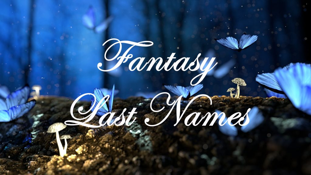 fantasy last names