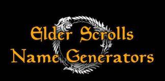 Elder Scrolls Name Generator