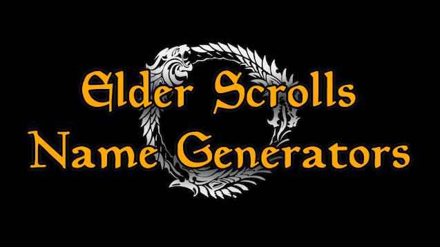 elder scrolls name generators