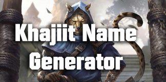 Khajiit Name Generator