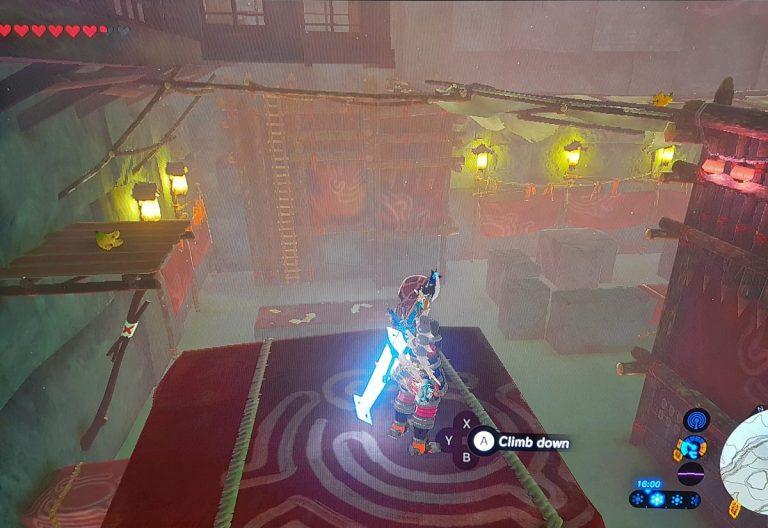 ladder in the yiga clan hideout