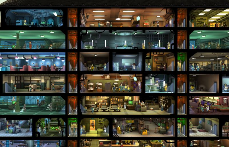 fallout shelter room layout