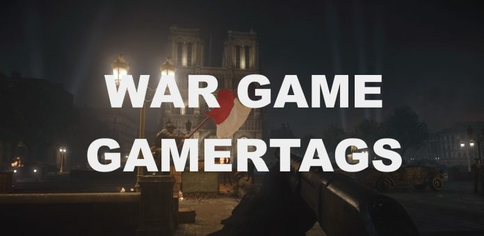 Gamertag ideas for war games