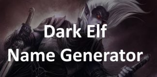Dark Elf Name Generator