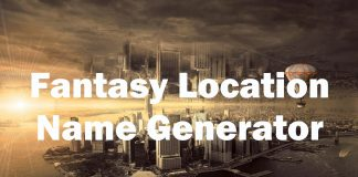 Fantasy Location Name Generator
