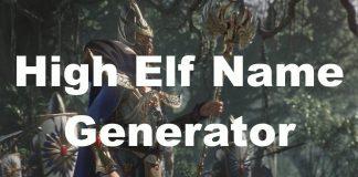 High Elf Name Generator