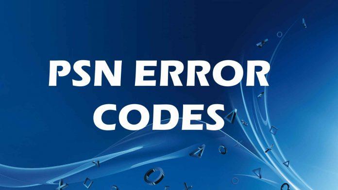 psn error codes