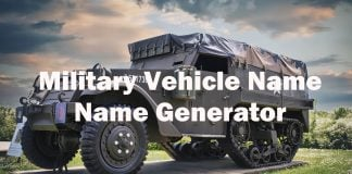 Military Vehicle Name Generator