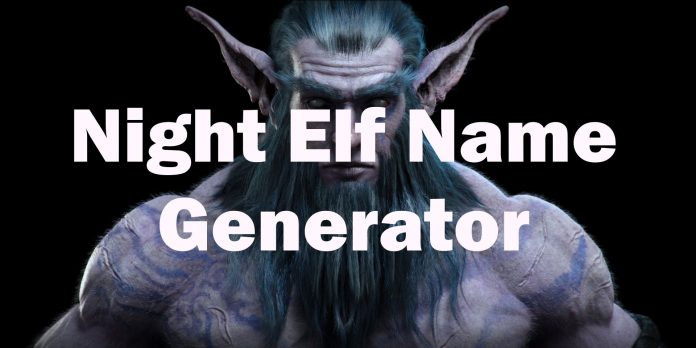 Night elf name generator