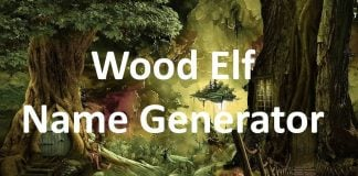Wood Elf Name Generator