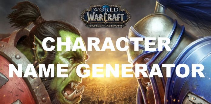 World of warcraft character name generator