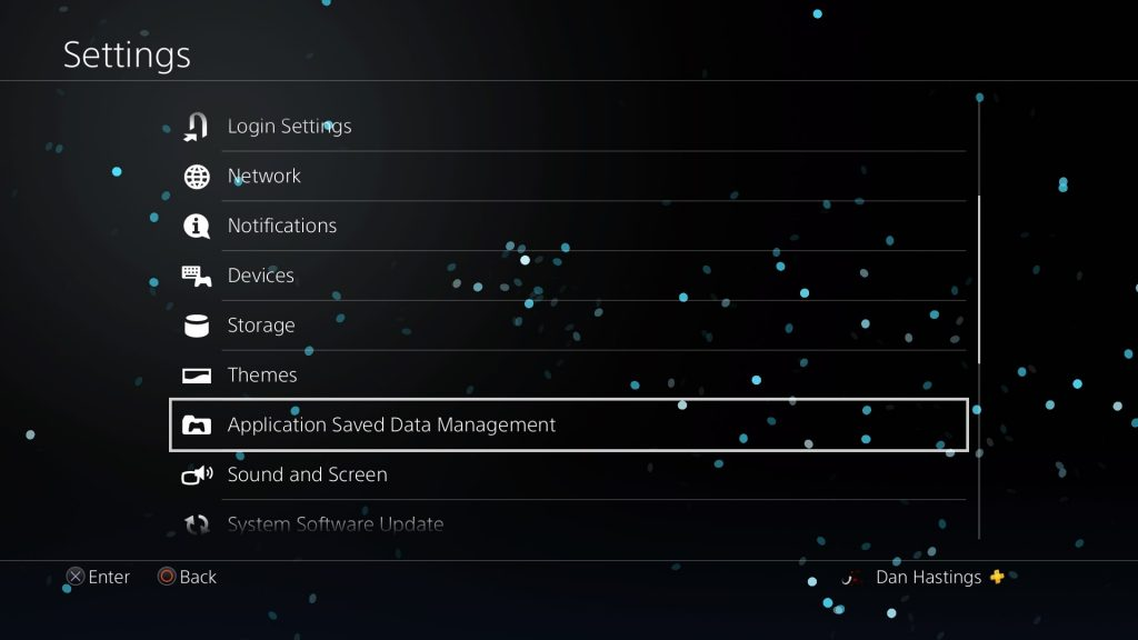 application save data managment ps4