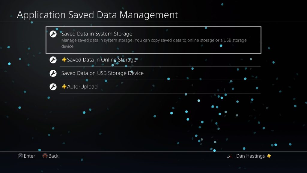 save data on ps4