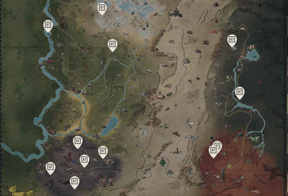 black titanium map locations