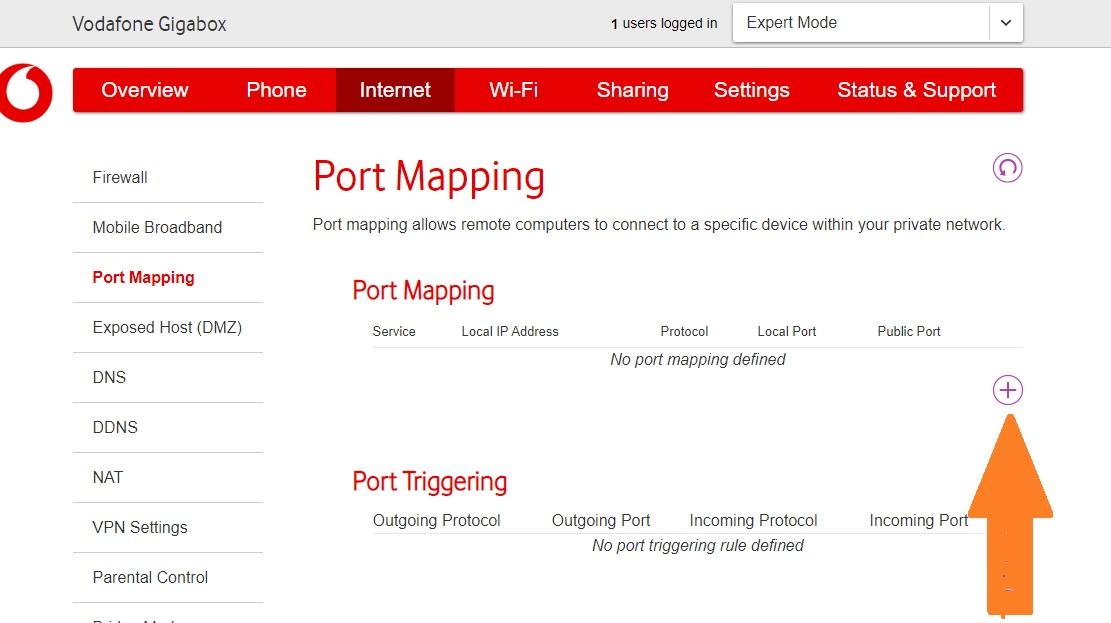 gigabox port forwarding for xbox one