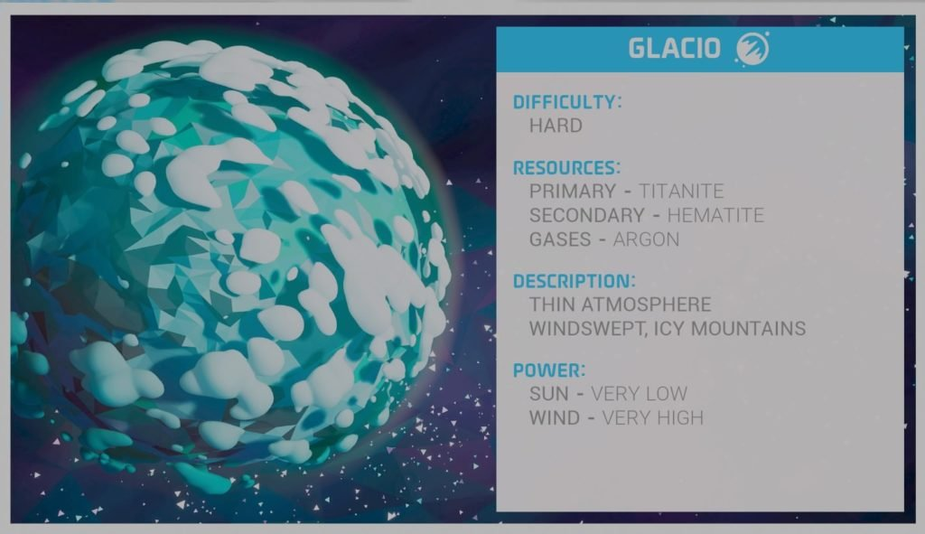 astroneer glacio planet information
