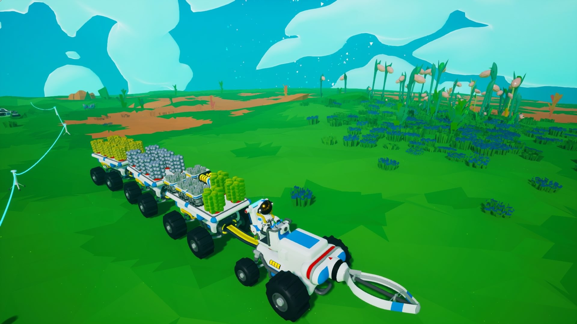 gathering resources using tractor